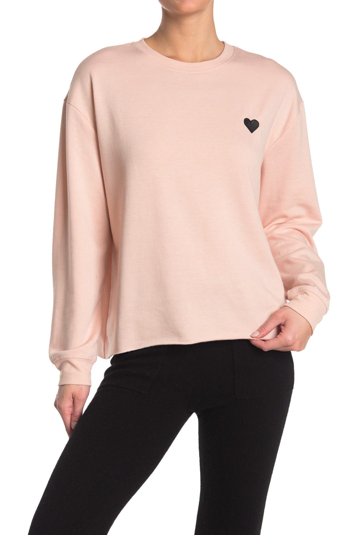 Image of C & C California Heart Graphic Knit Pullover