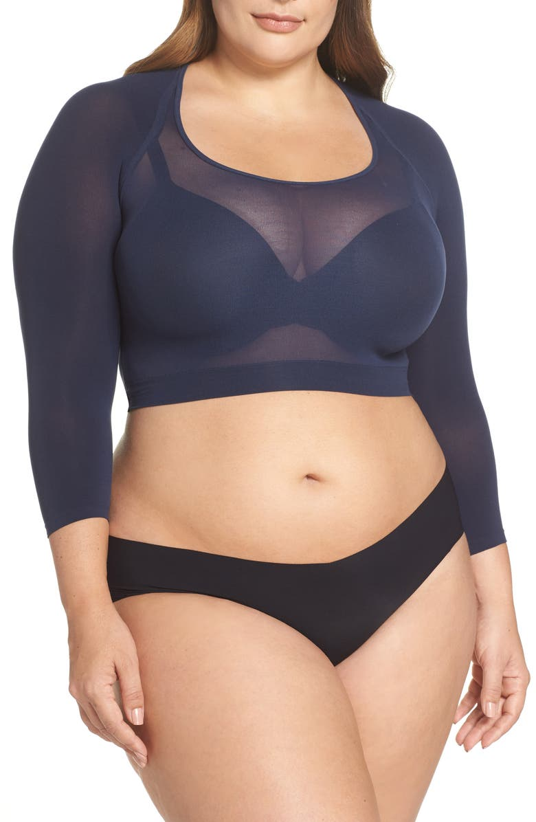 SPANX<SUP>®</SUP> Arm Tights<sup>™</sup> Layering Top, Main, color, PORT NAVY