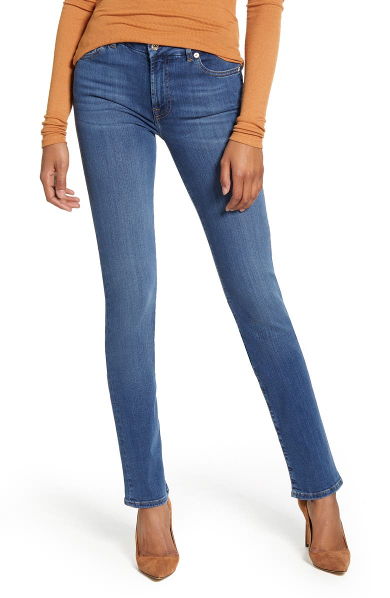 7 FOR ALL MANKIND<SUP>®</SUP> 7 For All Mankind Kimmie Straight Leg Jeans, Main, color, SLIM ILLUSION LUXE LOVE STORY