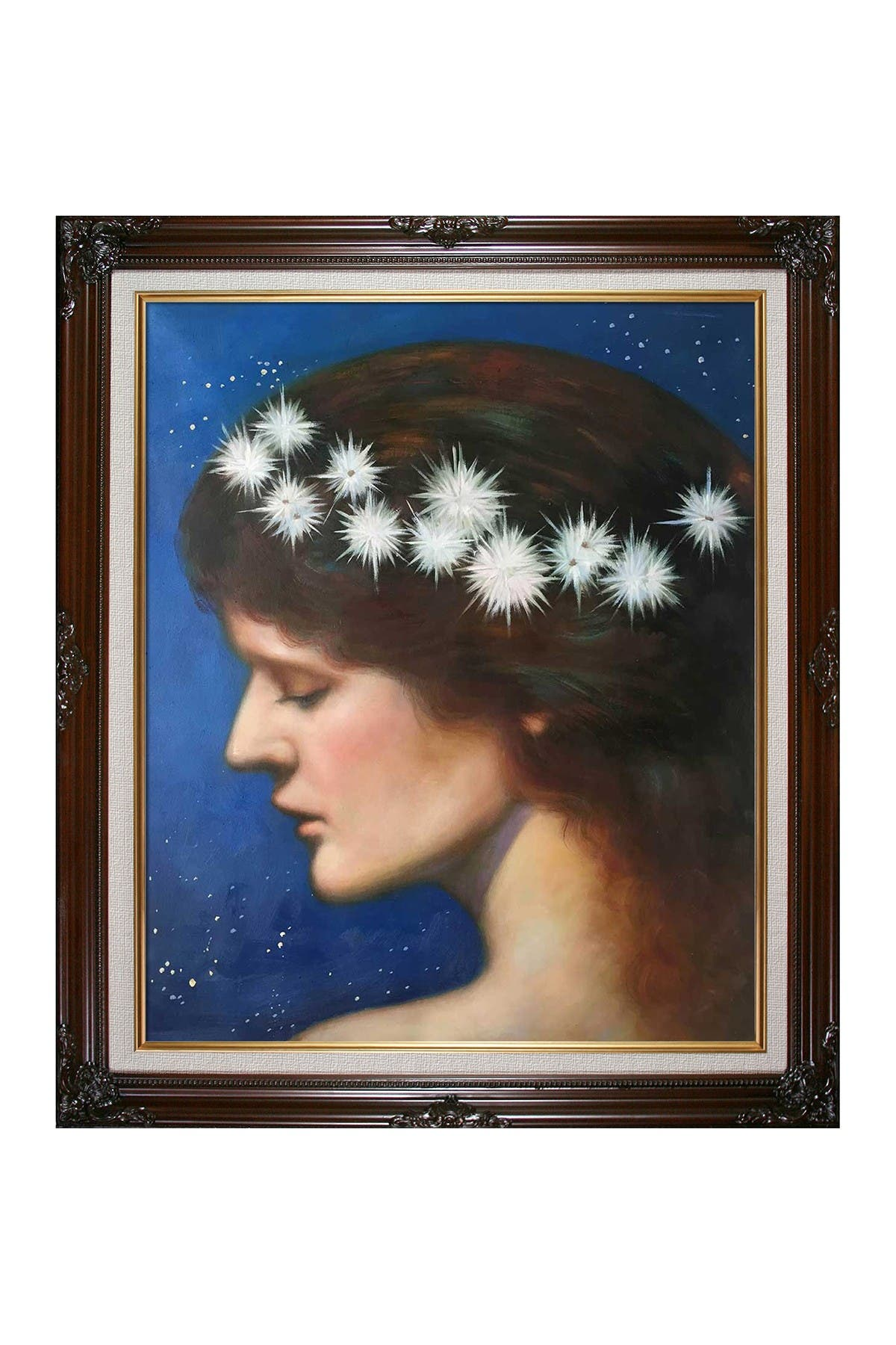 """Image of Overstock Art Night with Vintage Cherry Frame - 26"""" x 30"""""""