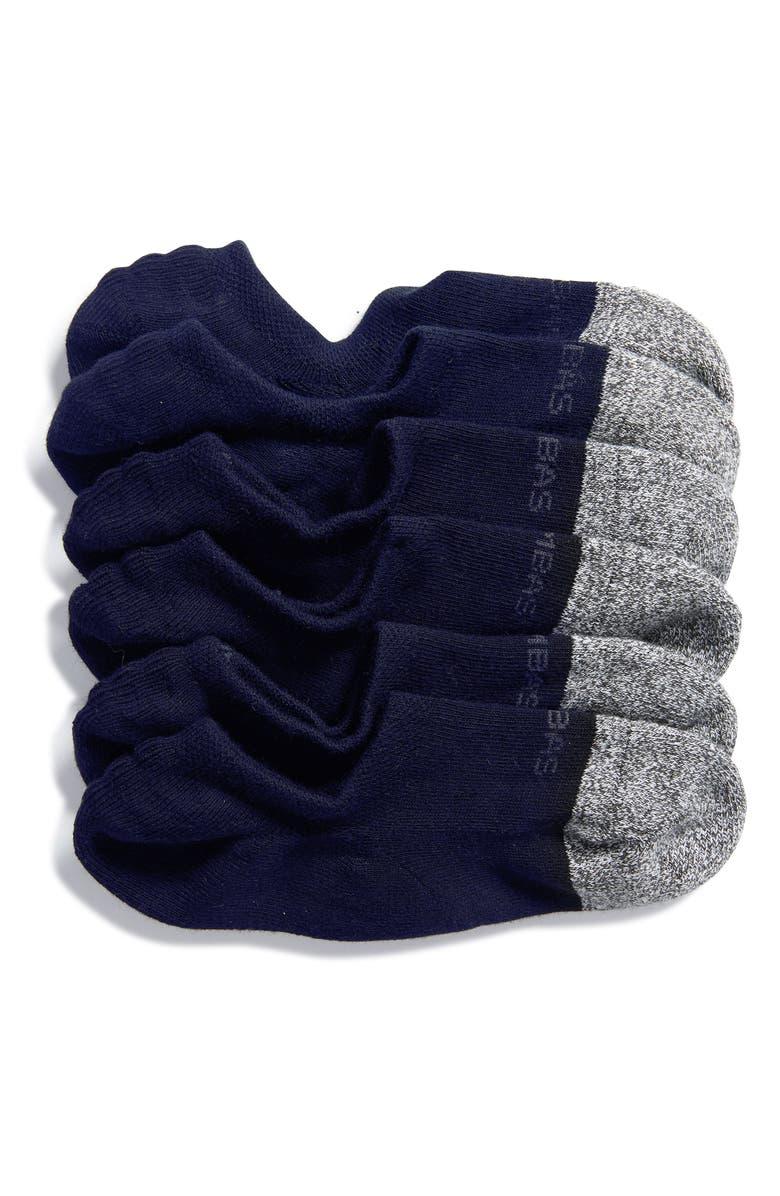 BOMBAS 3-Pack Cushion No-Show Socks, Main, color, NAVY