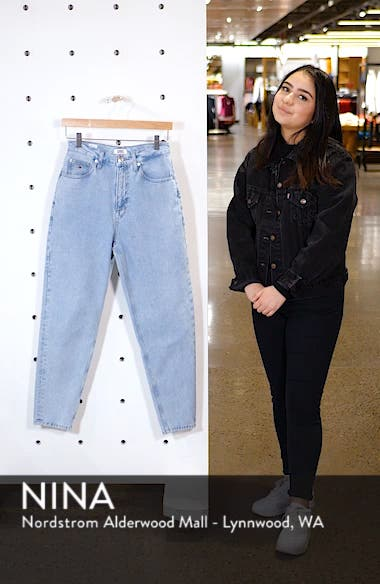 High Waist Tapered Jeans, sales video thumbnail