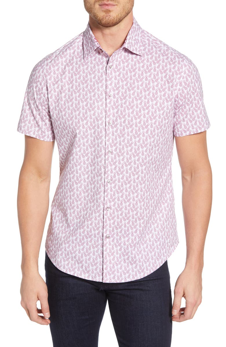 STONE ROSE Pineapple Regular Fit Shirt, Main, color, 650