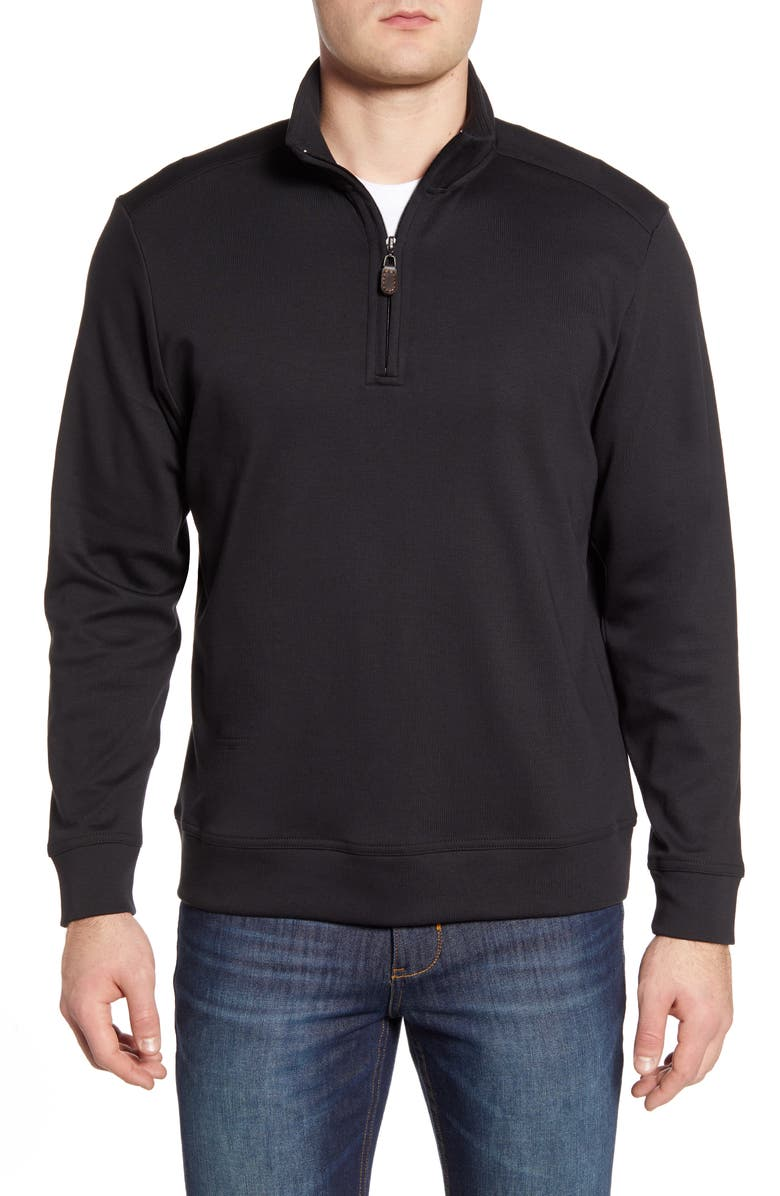 TOMMY BAHAMA Quarter Zip Pullover, Main, color, 001