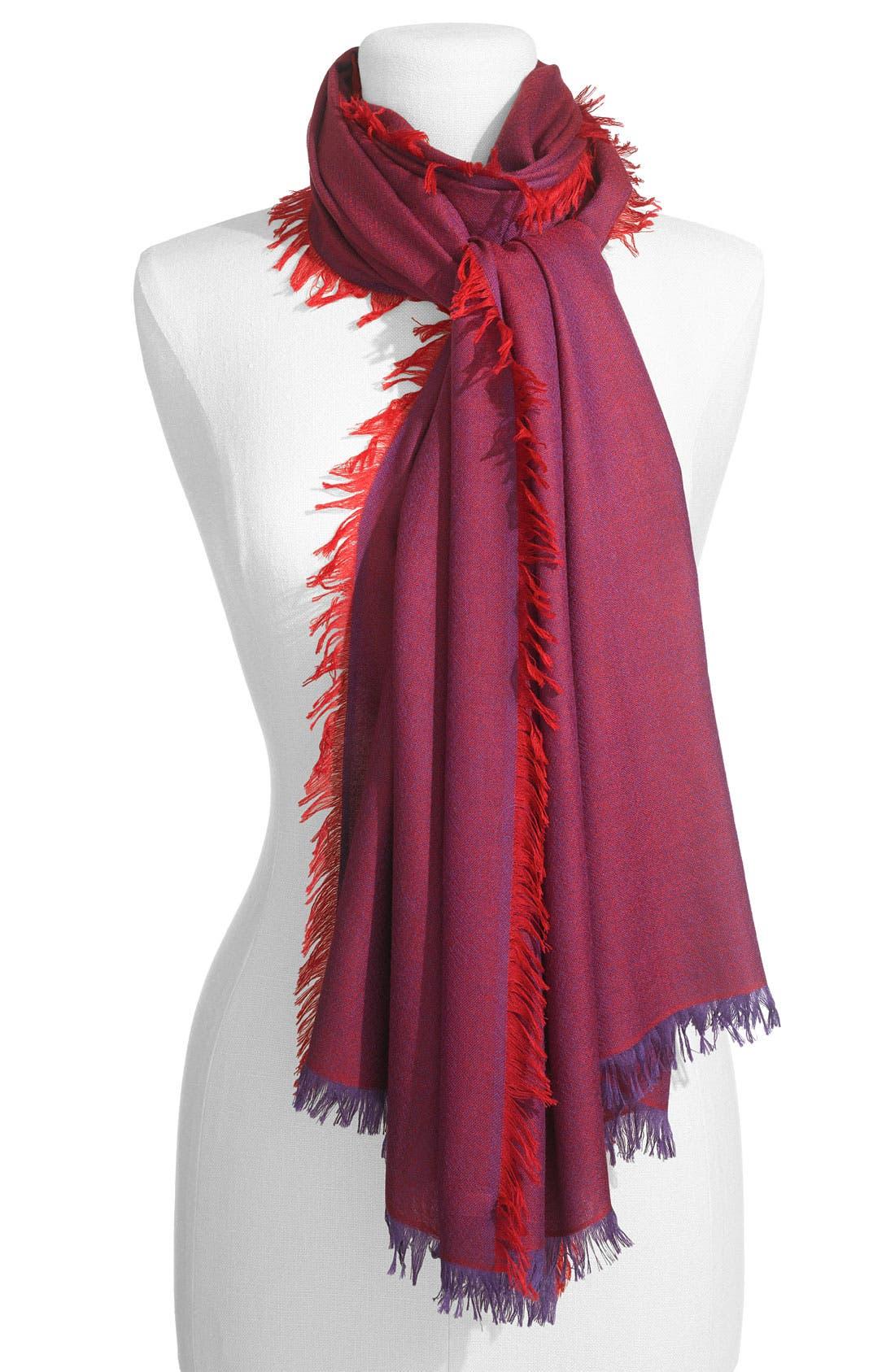 ,                             'Eyelash' Colorblock Cashmere Wrap,                             Main thumbnail 78, color,                             602