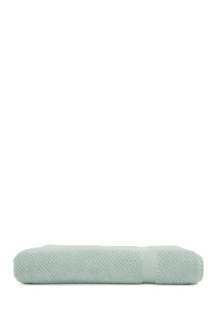 Image of LINUM HOME Aqua Blue Herringbone Bath Sheet