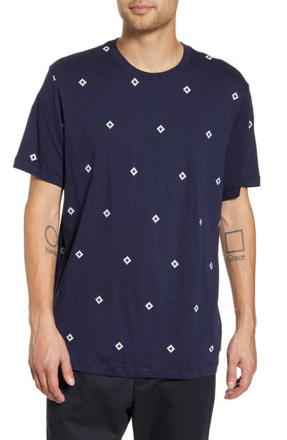 Nike Diamond Logo T-shirt In Obsidian/ Sail