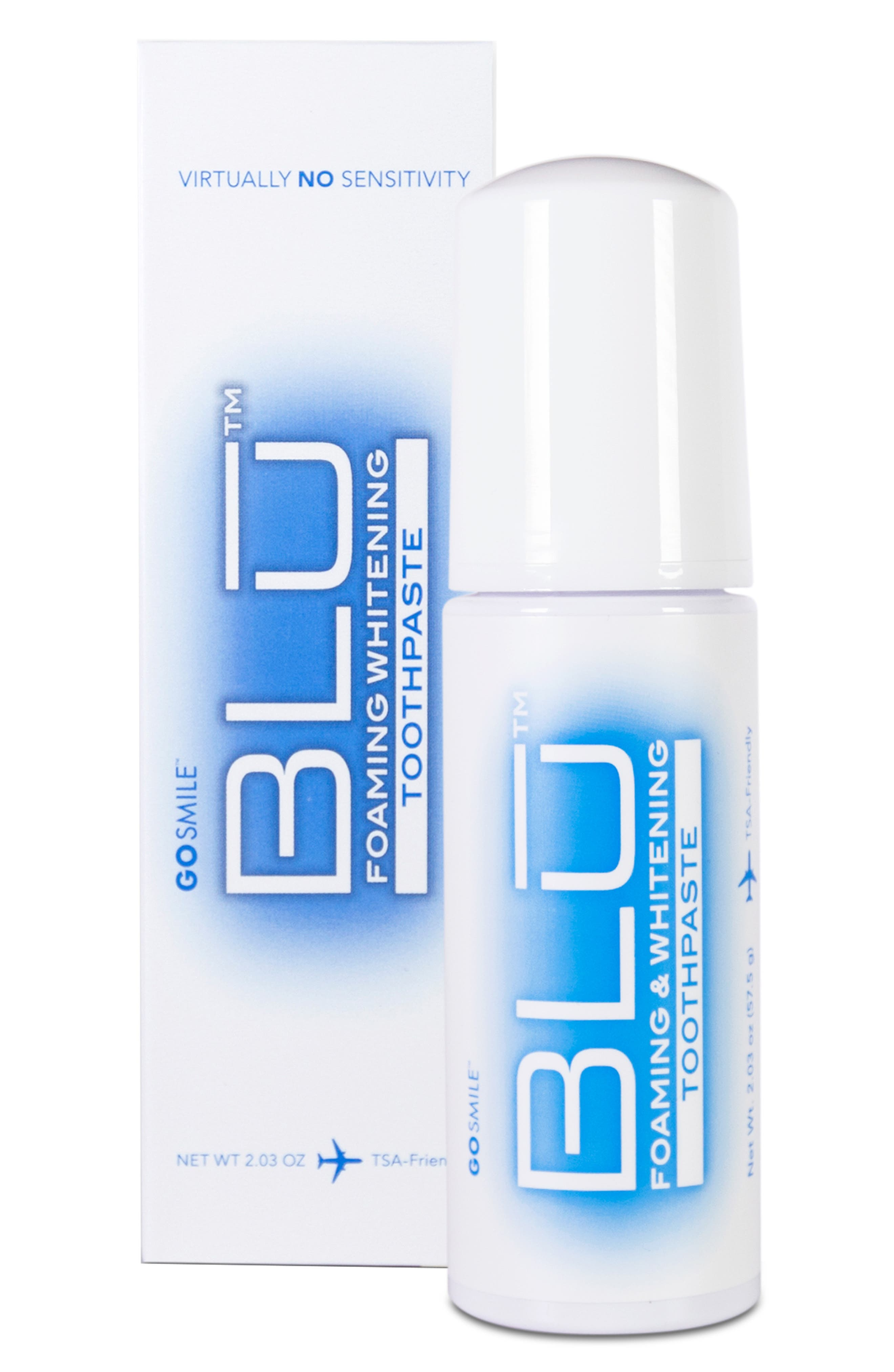 GO SMiLE(R) BLU Foaming & Whitening Toothpaste at Nordstrom