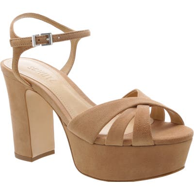 Schutz Keefa Platform Sandal- Beige
