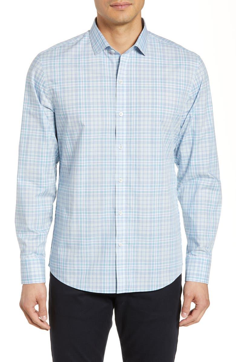 ZACHARY PRELL Zamora Regular Fit Check Sport Shirt, Main, color, 332
