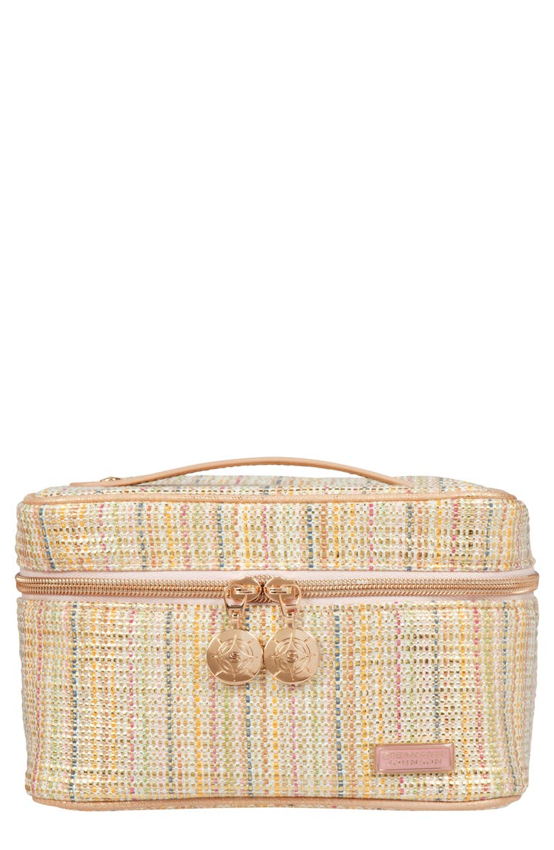 STEPHANIE JOHNSON Jakarta Gold Louise Travel Case, Main, color, GOLD