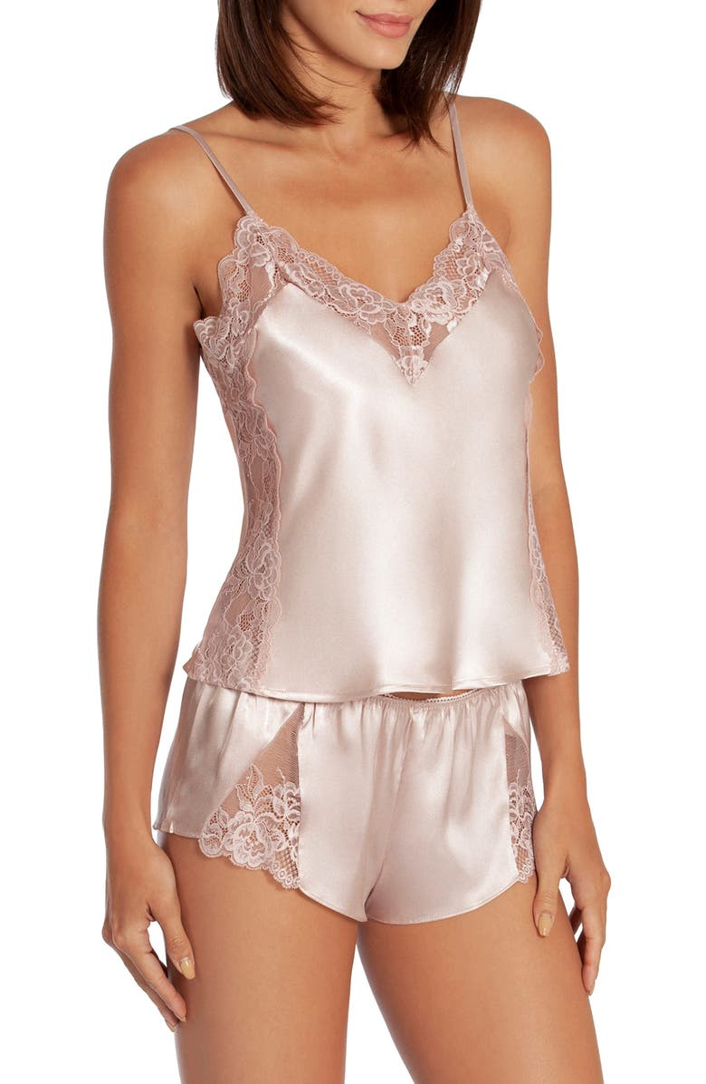 IN BLOOM BY JONQUIL Sea of Love Satin & Lace Short Pajamas, Main, color, BLUSH PINK