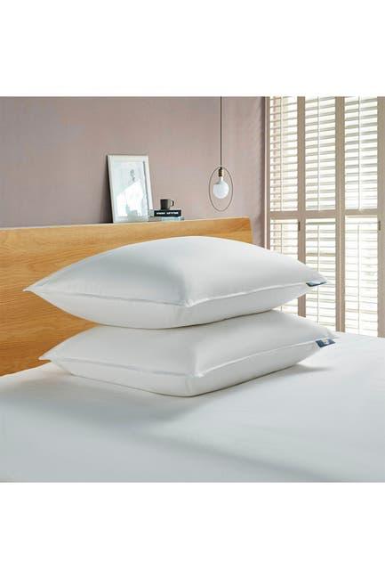 Blue Ridge Home Fashions 2pk Serta 233tc White Goose Feather Down Fiber Bed Pillow Back Sleeper Jumbo White Nordstrom Rack