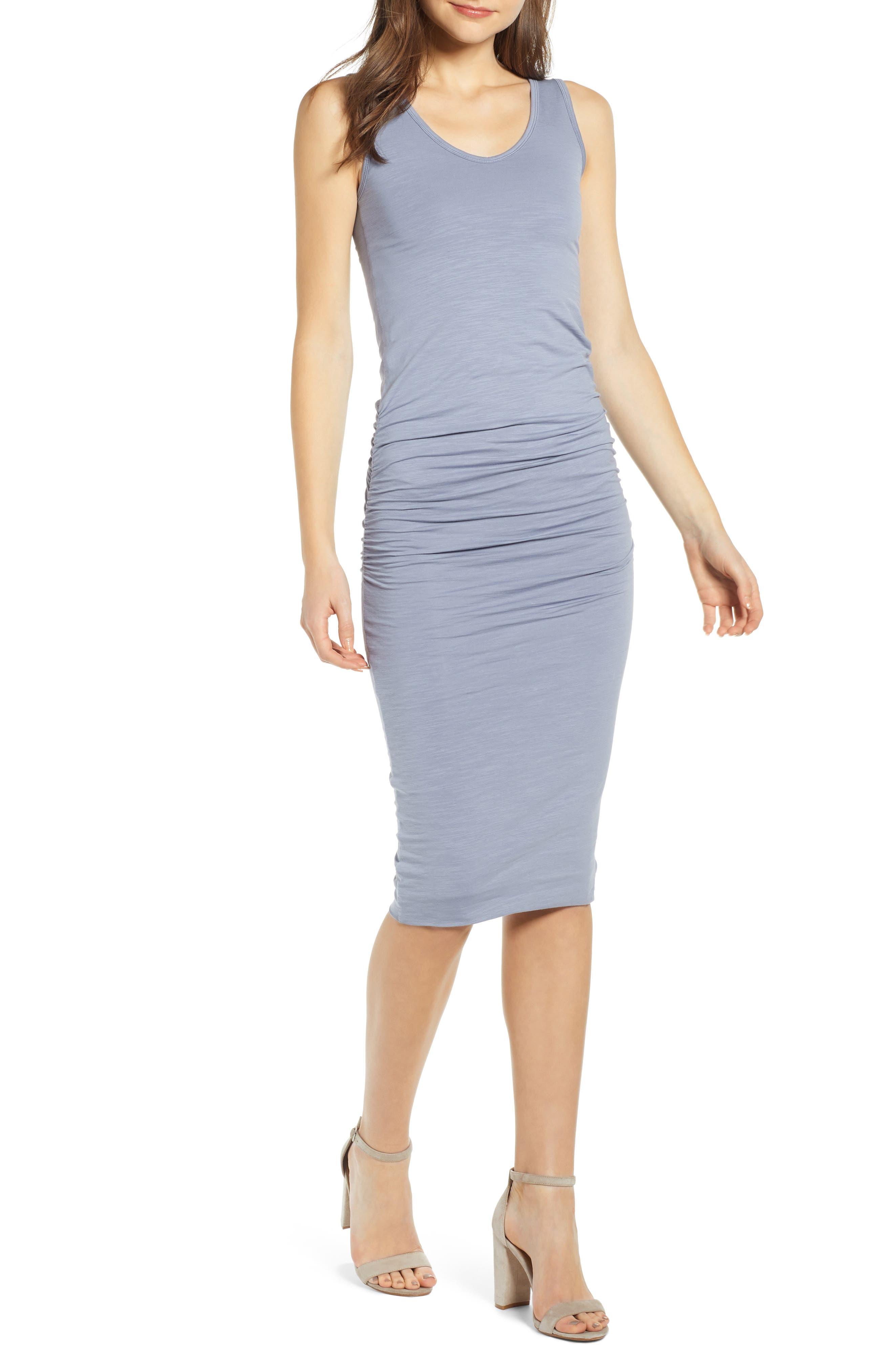 Bishop + Young Alba Midi Sheath Dress, Blue