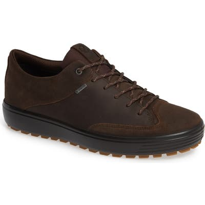Ecco Soft 7 Tred Lace-Up Sneaker - Brown