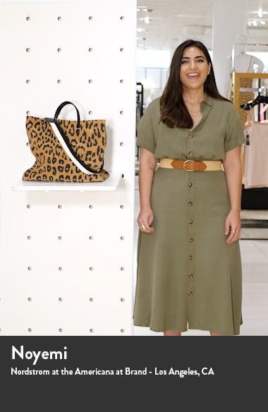 Simple Leopard Print Suede Tote, sales video thumbnail
