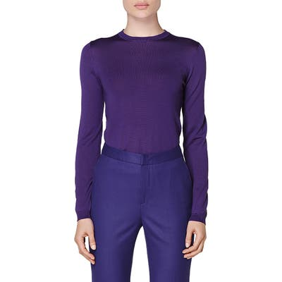 Suistudio Merino Wool Sweater, Purple