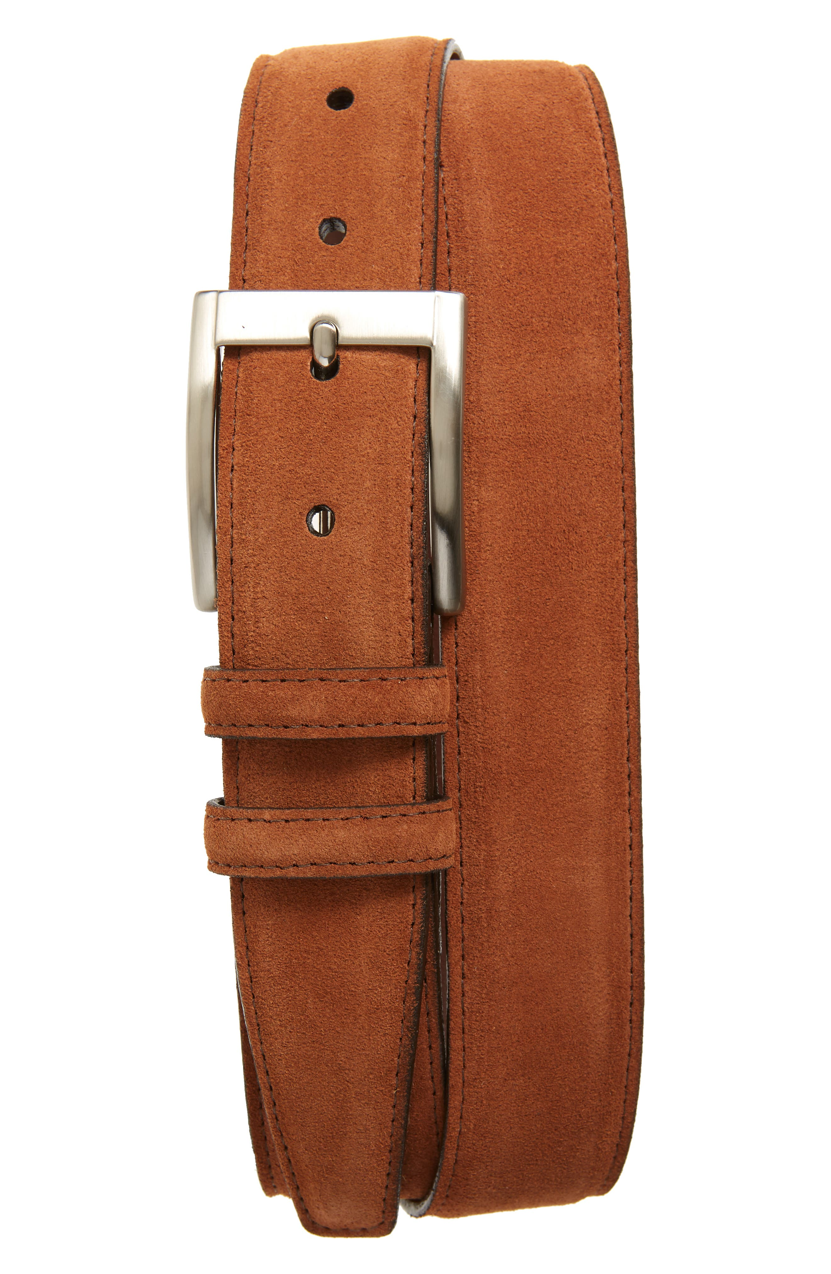 Creamy calfskin suede adds exotic texture to a charming, American-made belt with versatile appeal. Style Name: Torino Calfskin Suede Belt. Style Number: 5758257. Available in stores.