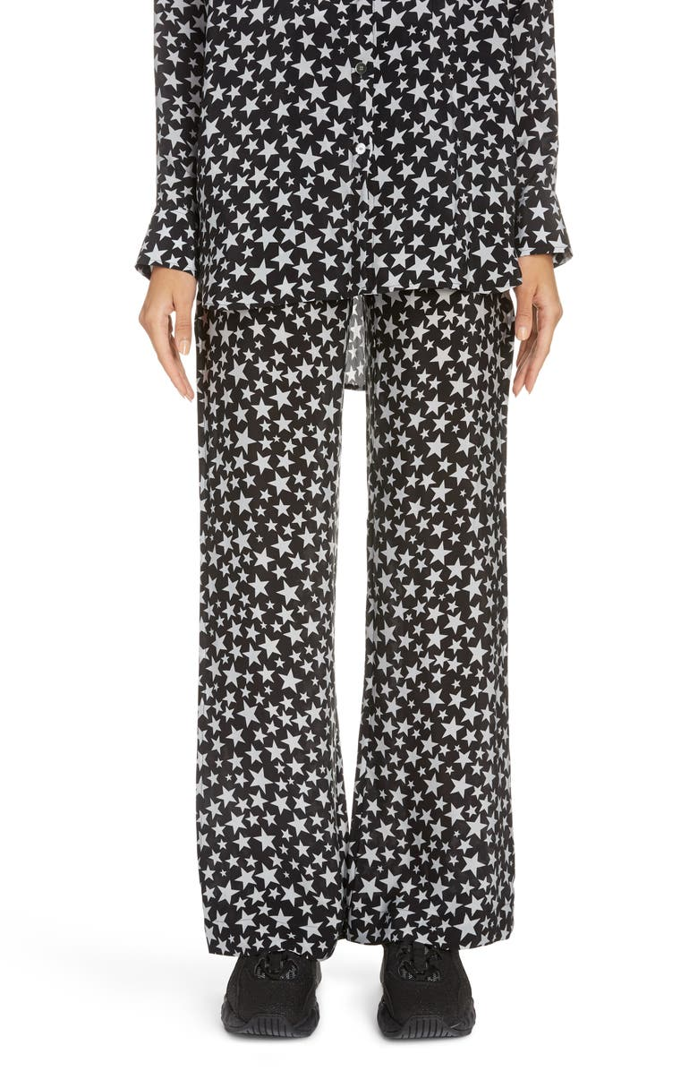 ACNE STUDIOS Pamila Star Print Pants, Main, color, BLACK/ GREY