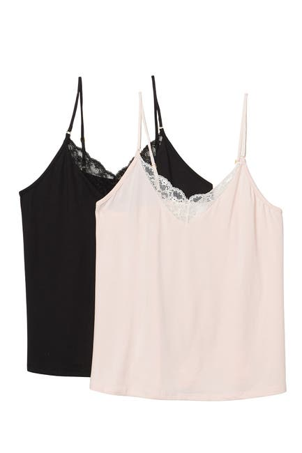 Image of Flora by Flora Nikrooz Lace V-Neck Camisole - Pack of 2