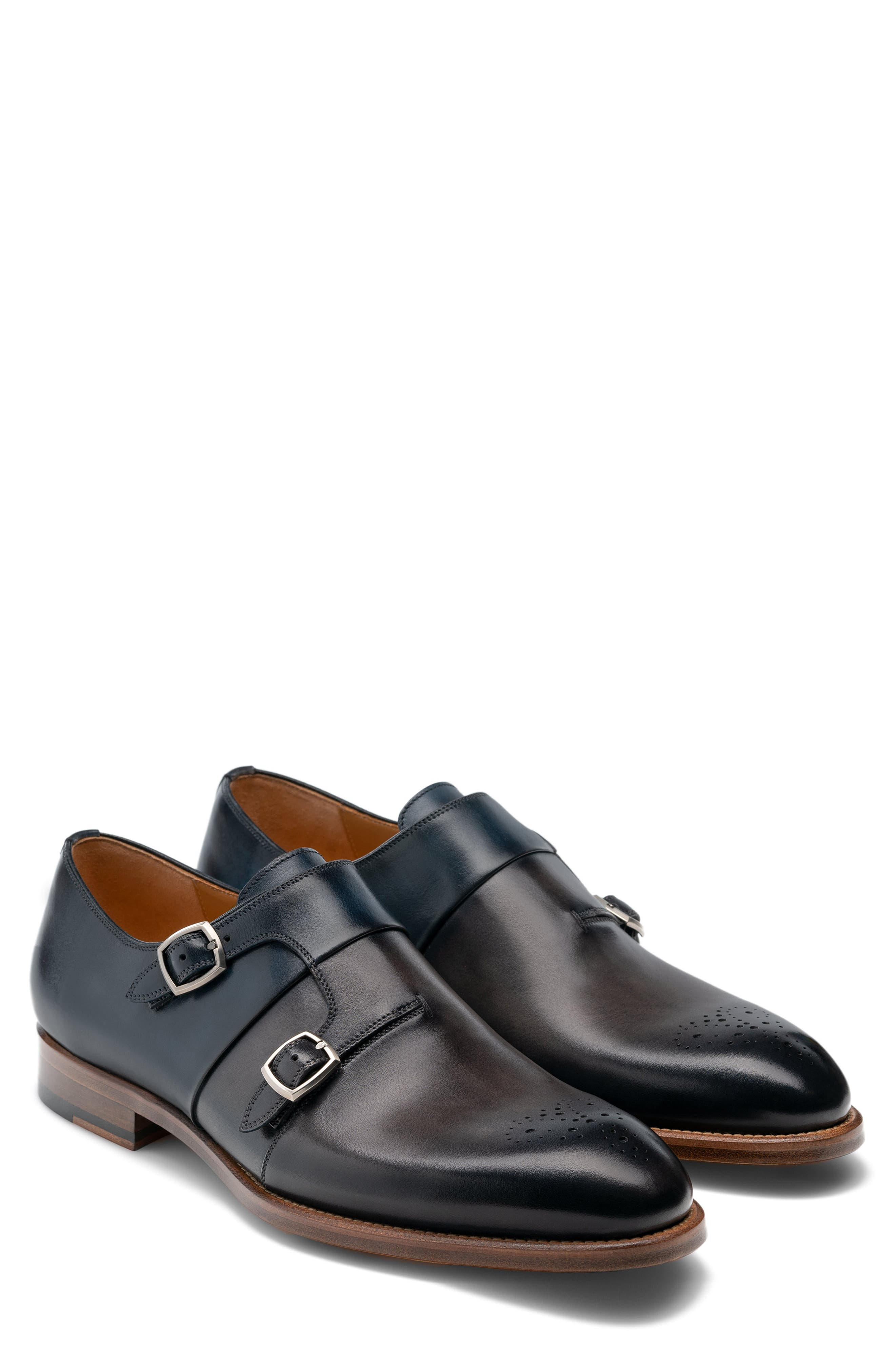 Burnished Italian leather elevates a rich Spanish monk shoe built with Diversa comfort technology that uses multiple air channels for cushioned arch support. Style Name: Magnanni Maurici Diversa Monk Strap Shoe (Men). Style Number: 5945078 1. Available in stores.