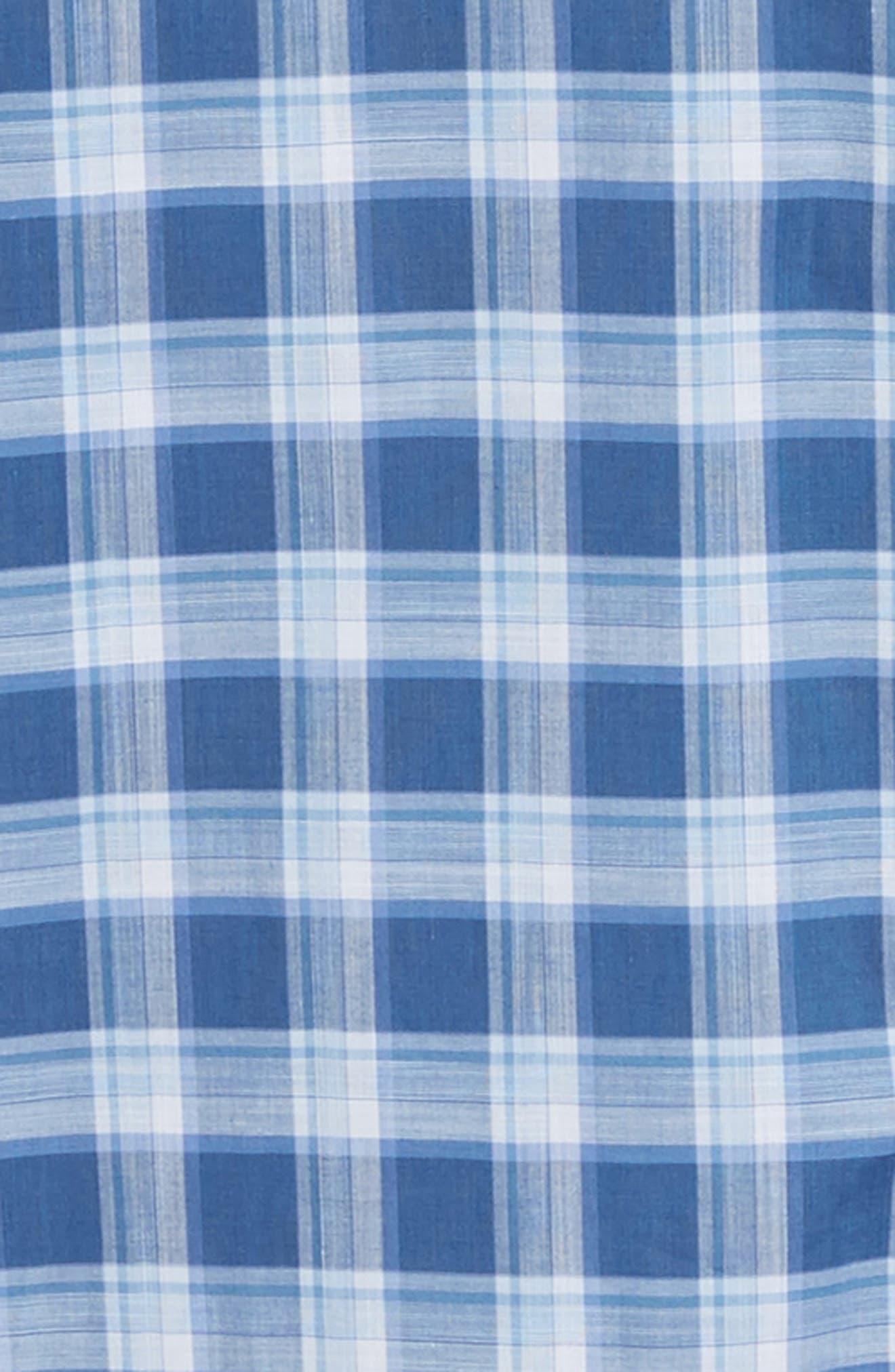 ,                             Albrecht Regular Fit Check Sport Shirt,                             Alternate thumbnail 6, color,                             BLUE