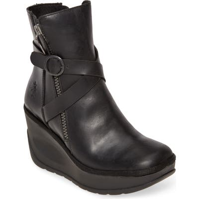 Fly London Jaso Wedge Bootie - Black