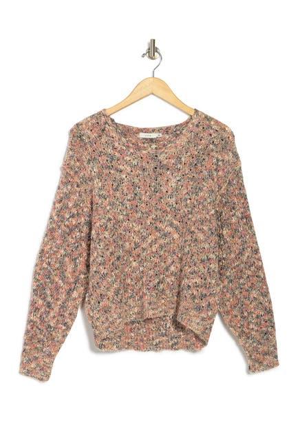 Image of Lush V-Neck Long Sleeve Knit Sweater
