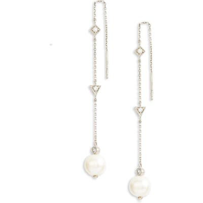 Anzie Cleo Pearl Chain Threader Earrings