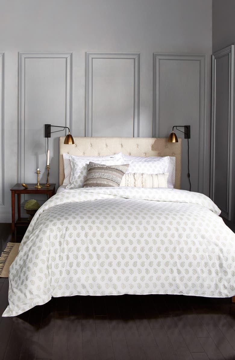 MURMUR LIVING Paisley Comforter & Sham Set, Main, color, SAGE