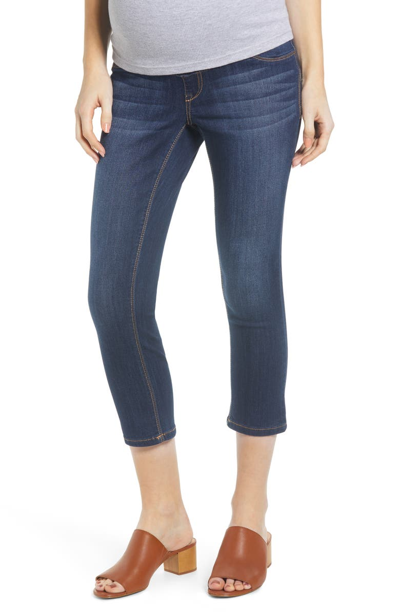 1822 DENIM Crop Maternity Skinny Jeans, Main, color, LENNOX
