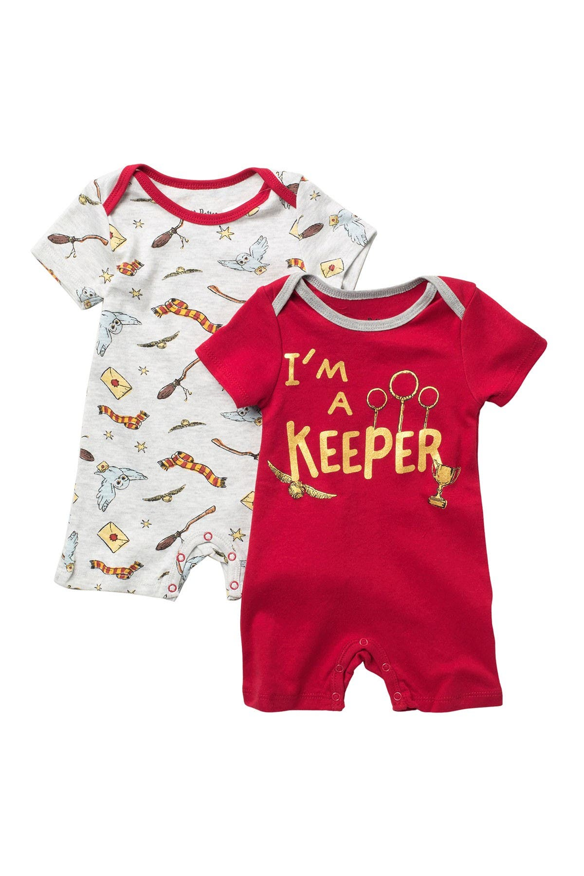 Image of HAPPY THREADS Harry Potter Rompers - Set of 2