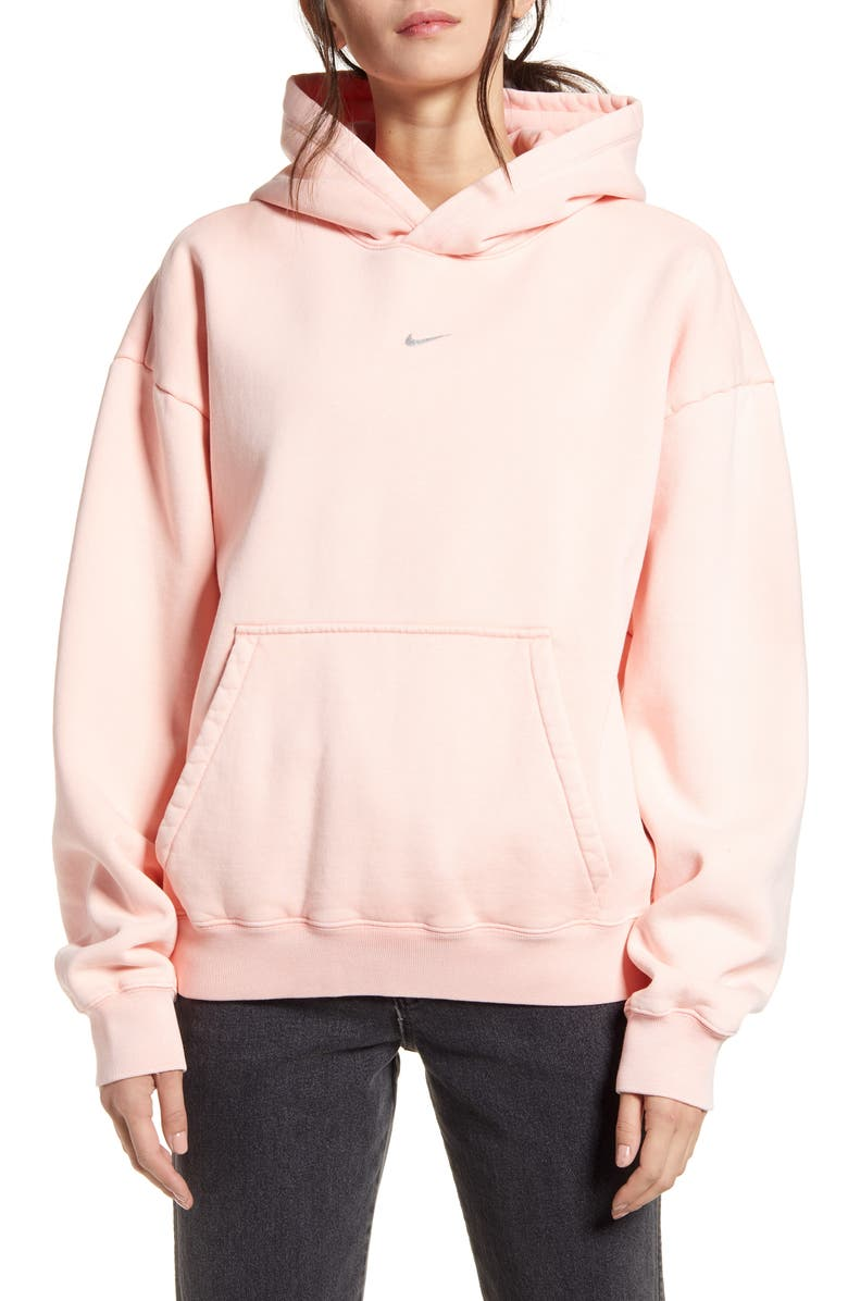 NIKE x Olivia Kim NRG Hooded Sweatshirt, Main, color, BLEACHED CORAL
