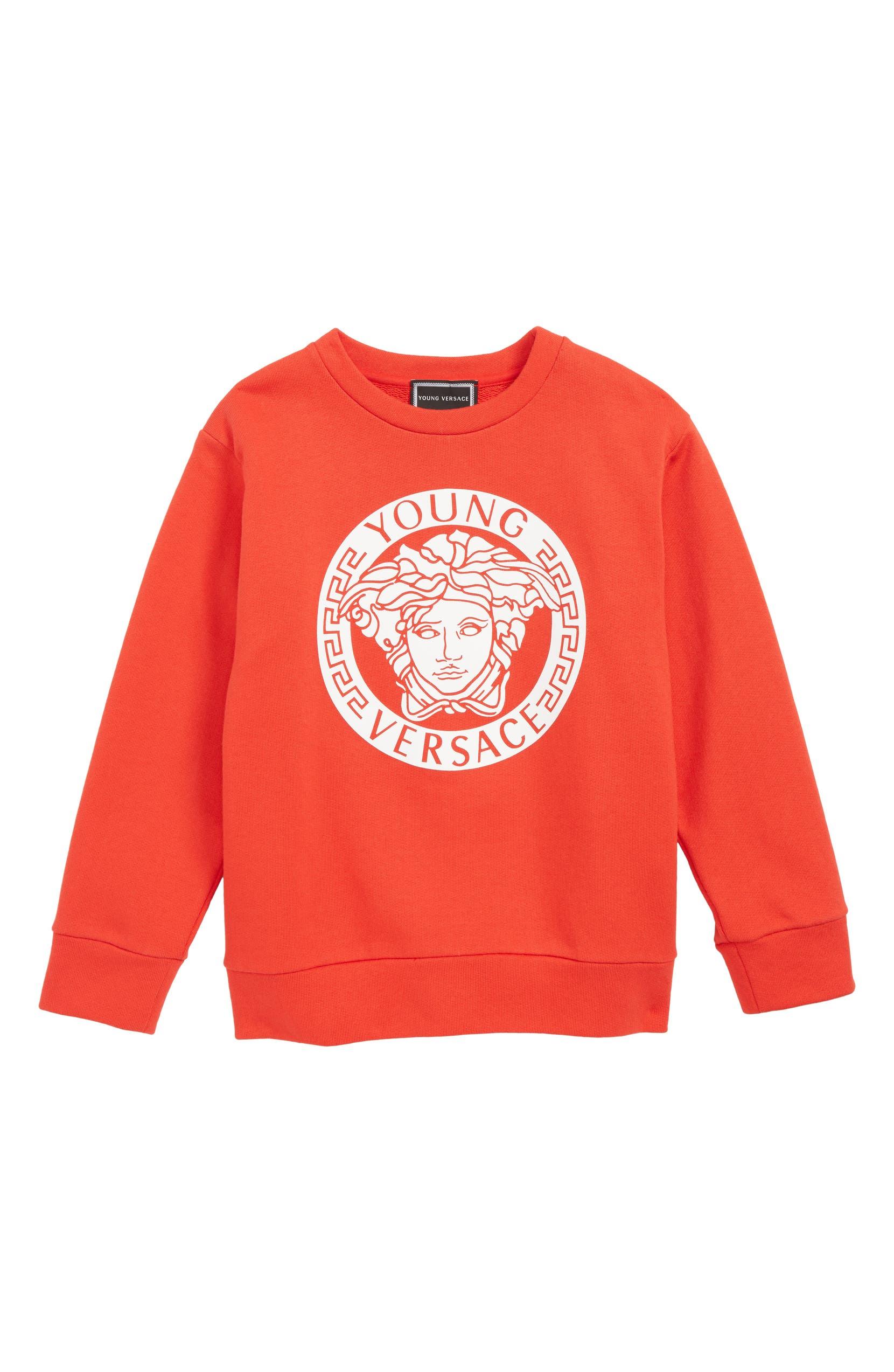127adbd0 Versace Medusa Logo Sweatshirt (Little Boys & Big Boys) | Nordstrom