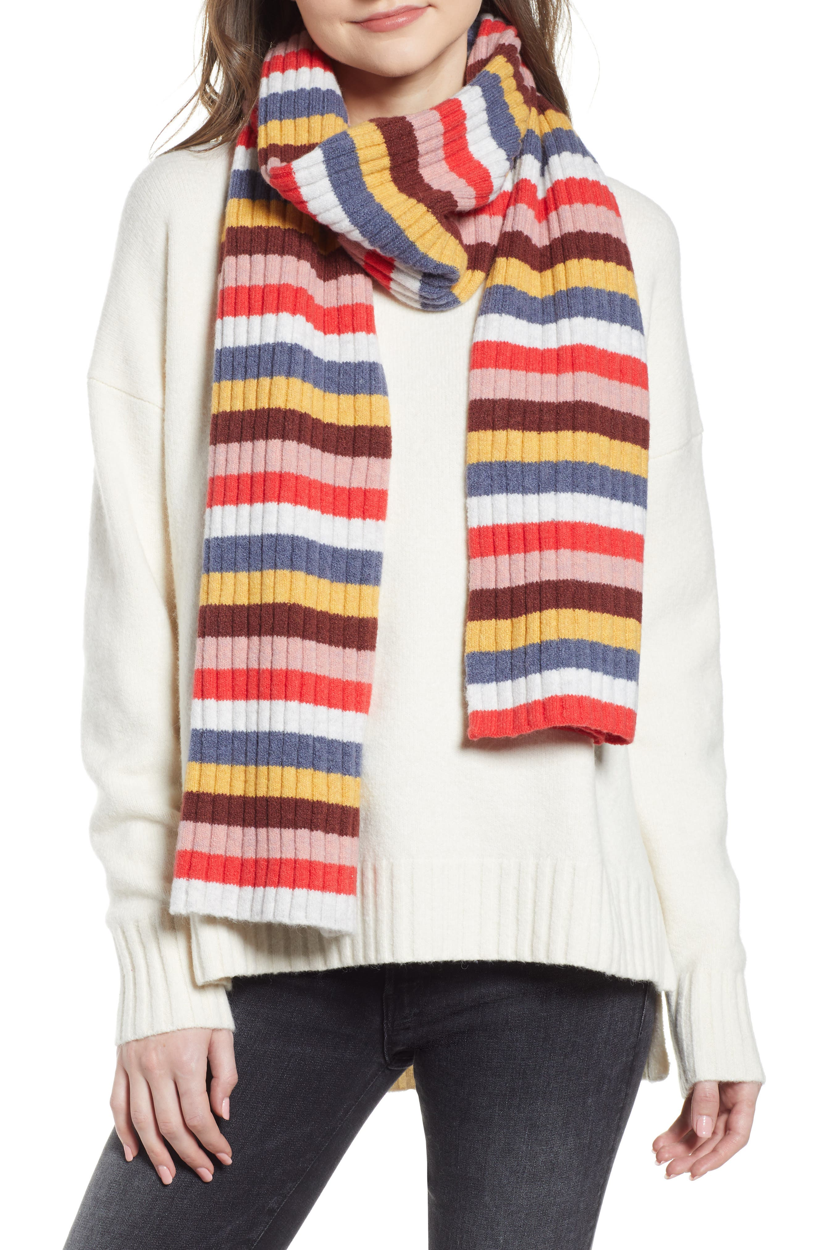 Image of Madewell Multi Stripe Knit Scarf