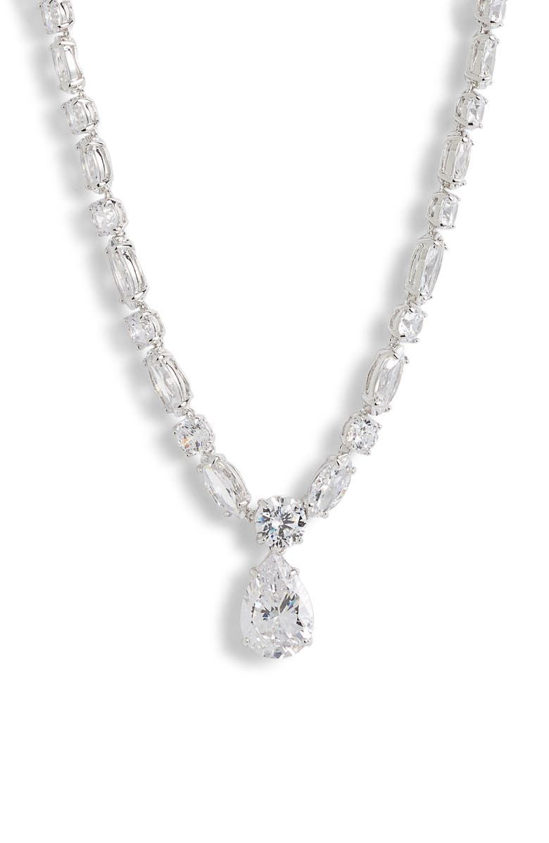 Mixed Cut Cubic Zirconia Riviera Necklace