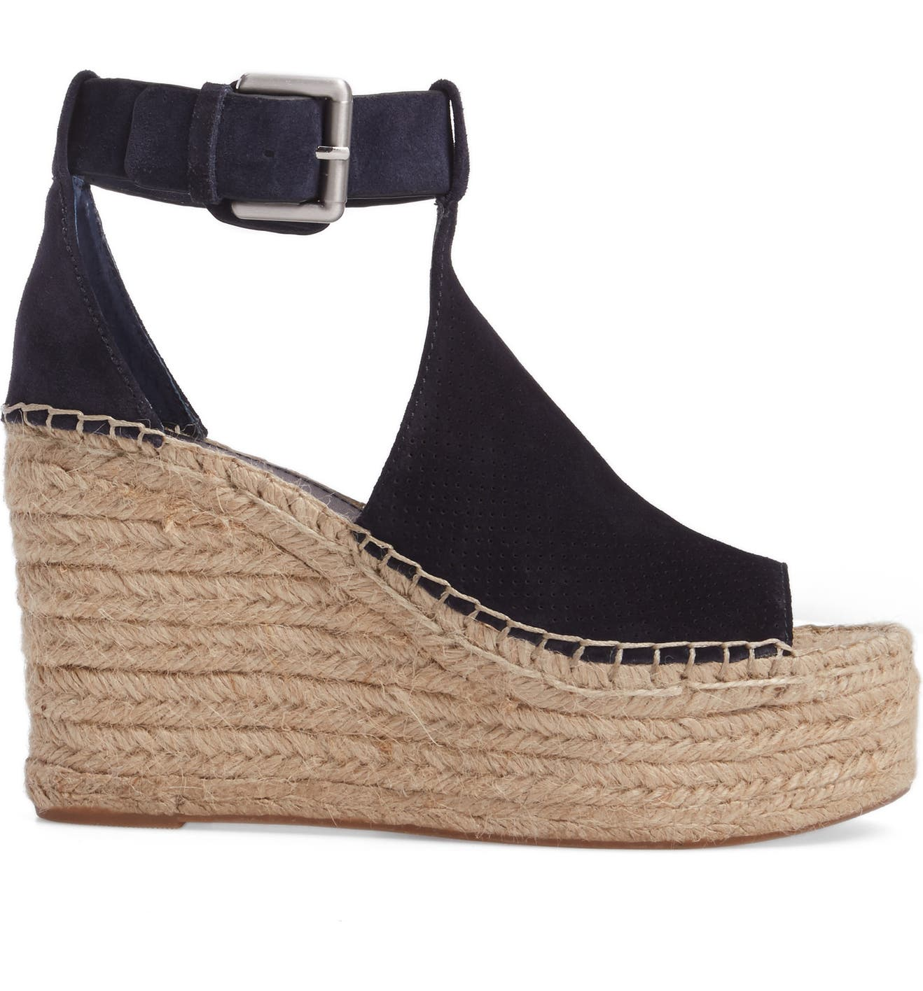 e1eed0f82f4 Annie Perforated Espadrille Platform Wedge