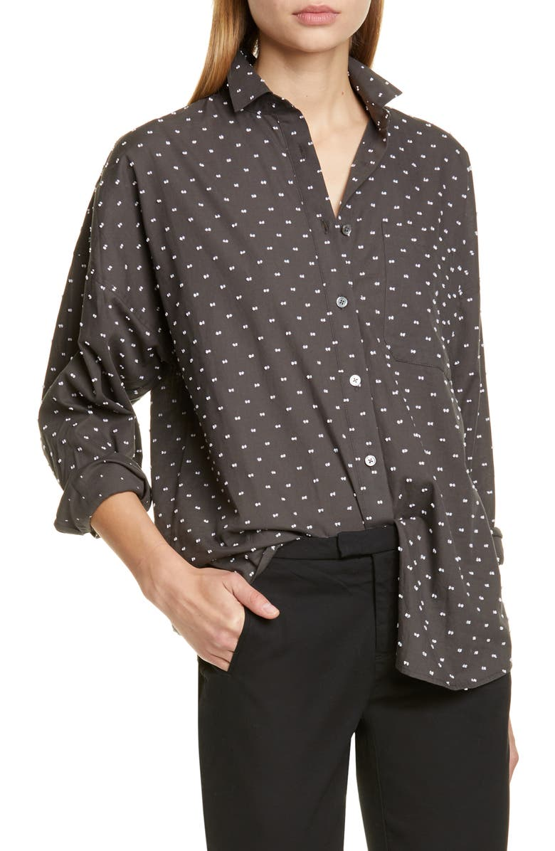 ATM ANTHONY THOMAS MELILLO Clip Dot Boyfriend Shirt, Main, color, PAVEMENT COMBO