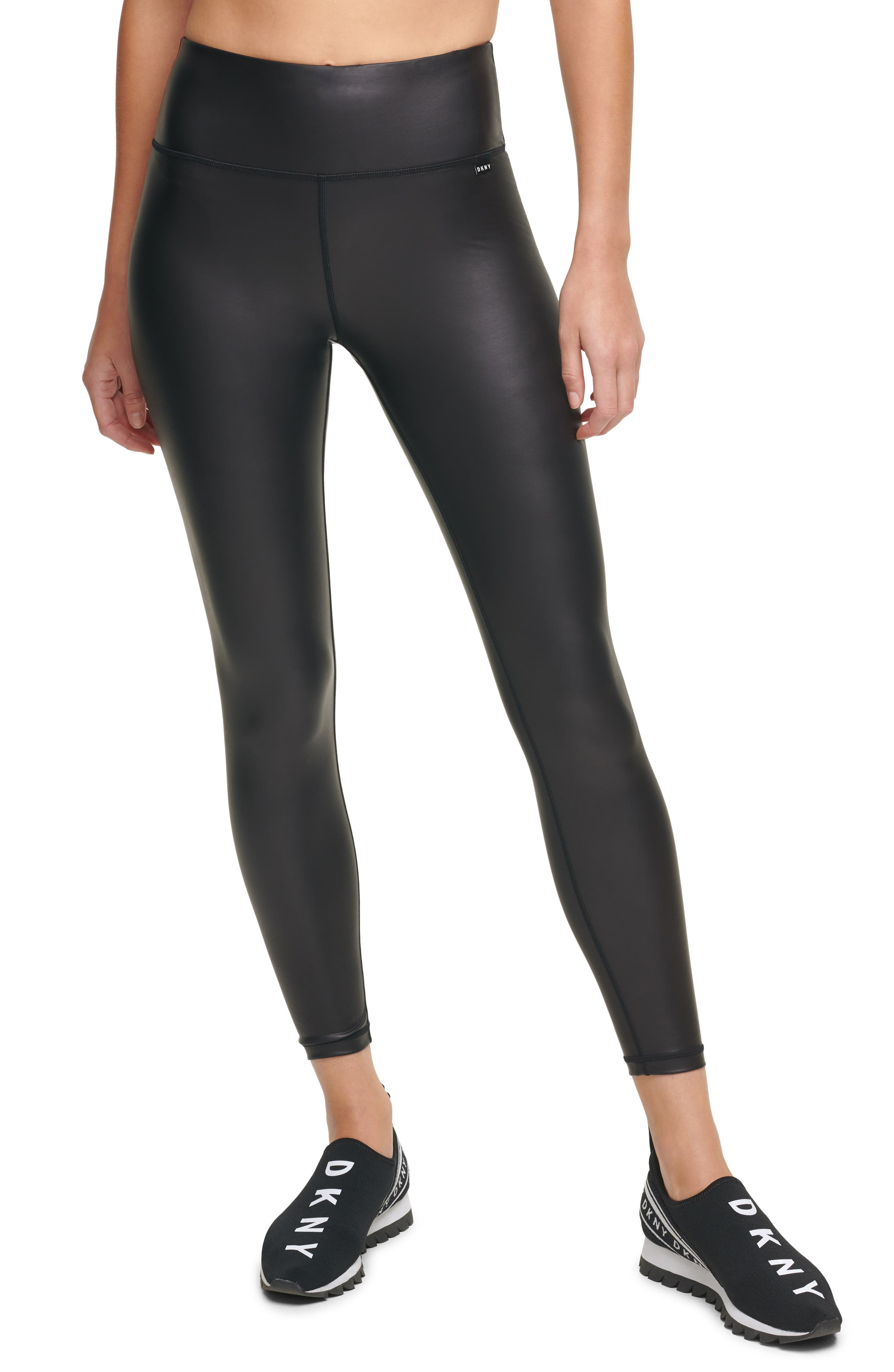 Faux Leather High Waist Ankle Leggings