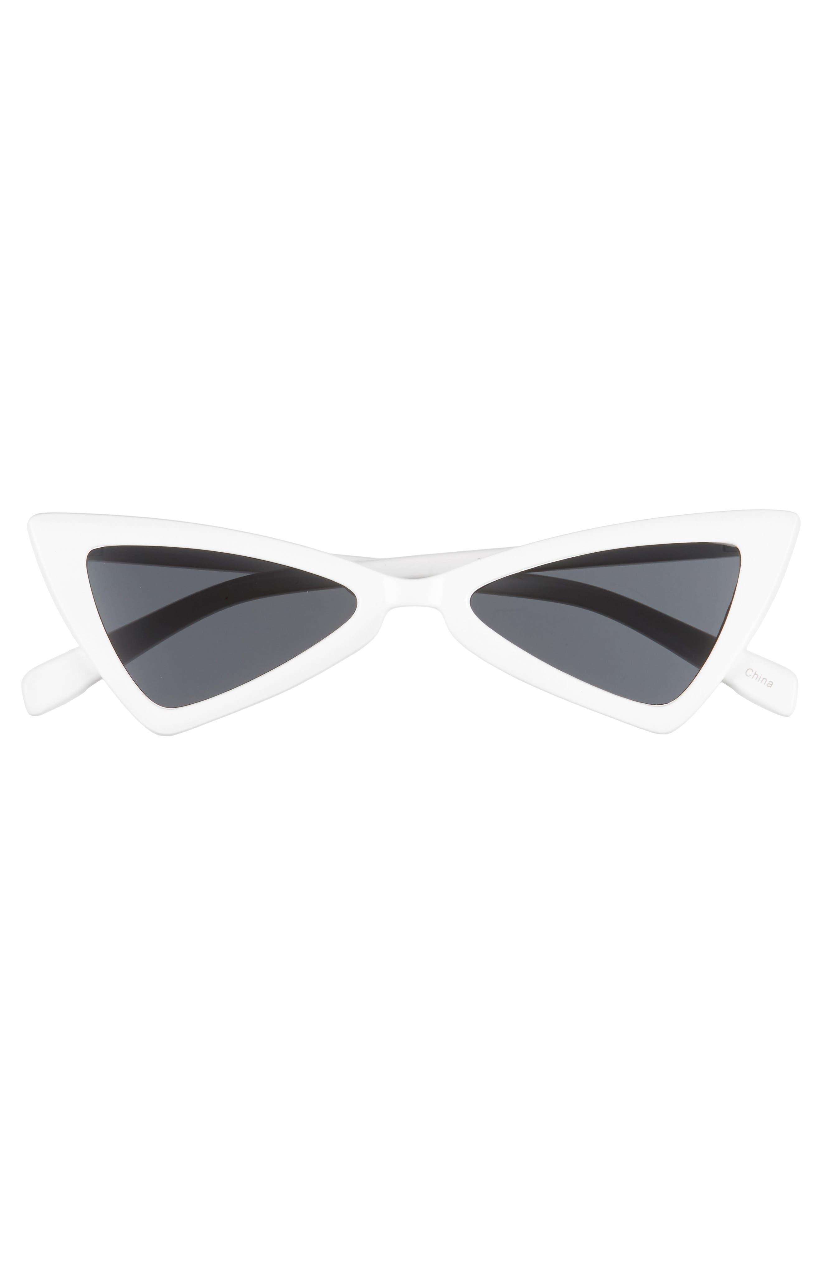 ,                             '80s Triangle Sunglasses,                             Alternate thumbnail 3, color,                             WHITE