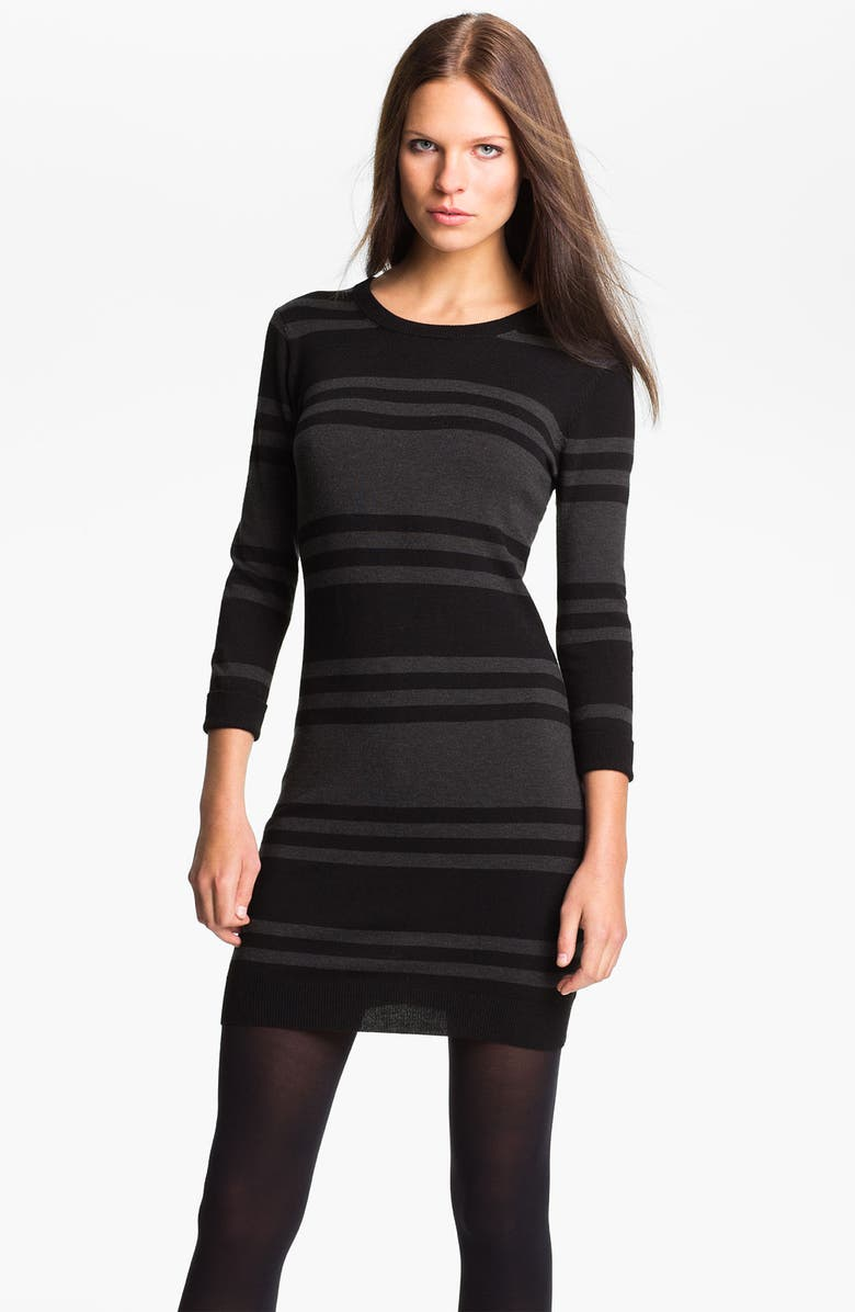 FRENCH CONNECTION 'Bambi Knits' Multi Stripe Sweater Dress, Main, color, 001