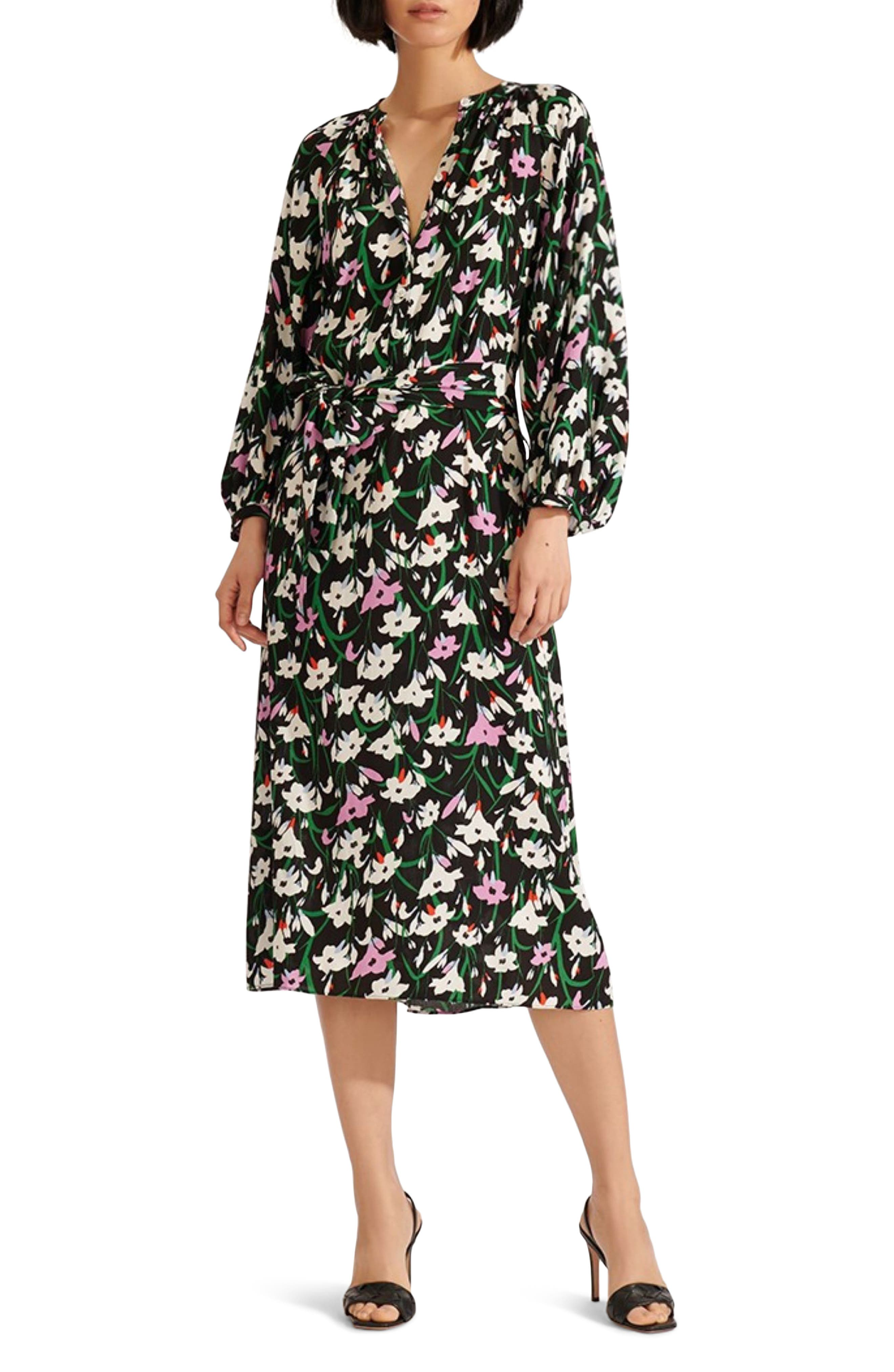 Image of VERONICA BEARD Cecilia Floral Print Dress