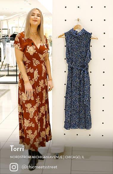 Dot Print Sleeveless Midi Dress, sales video thumbnail