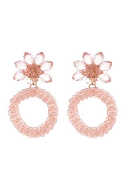 Image of kate spade new york flower hoop earrings