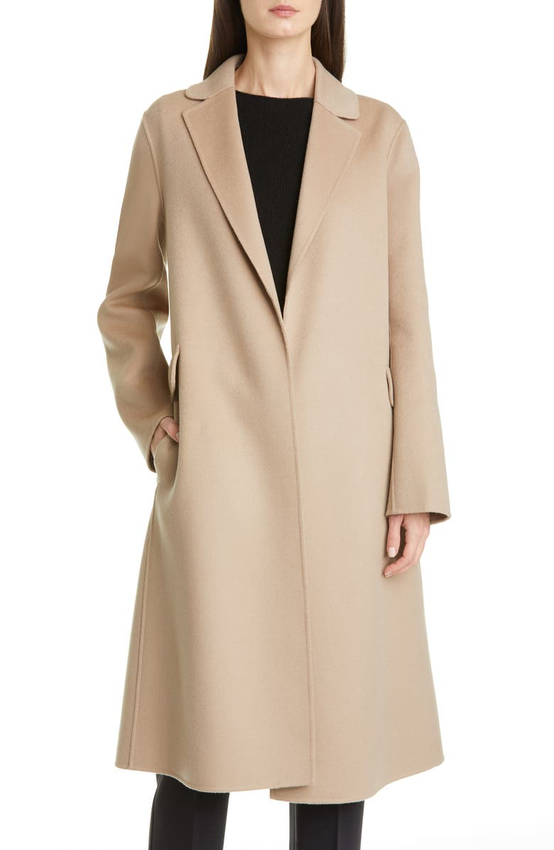 MAX MARA Polly Wool Wrap Coat, Main, color, HAZELNUT BROWN
