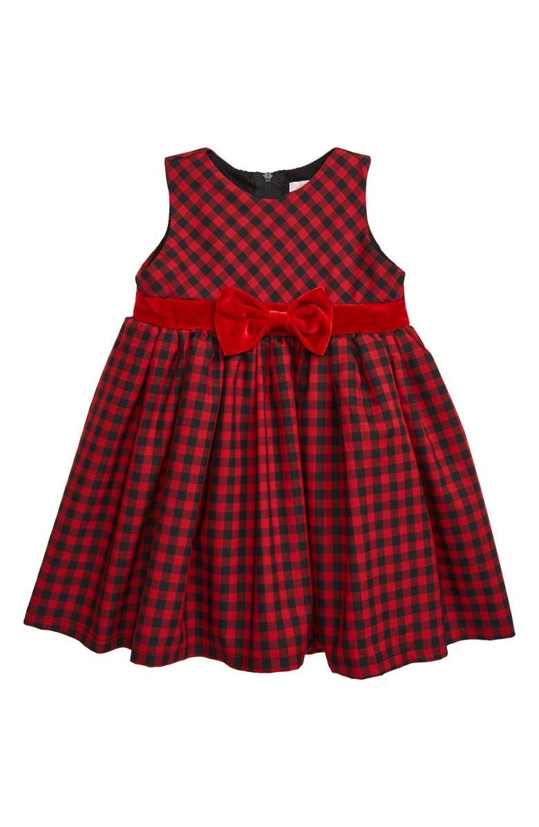 POPATU Check Sleeveless Dress, Main, color, RED