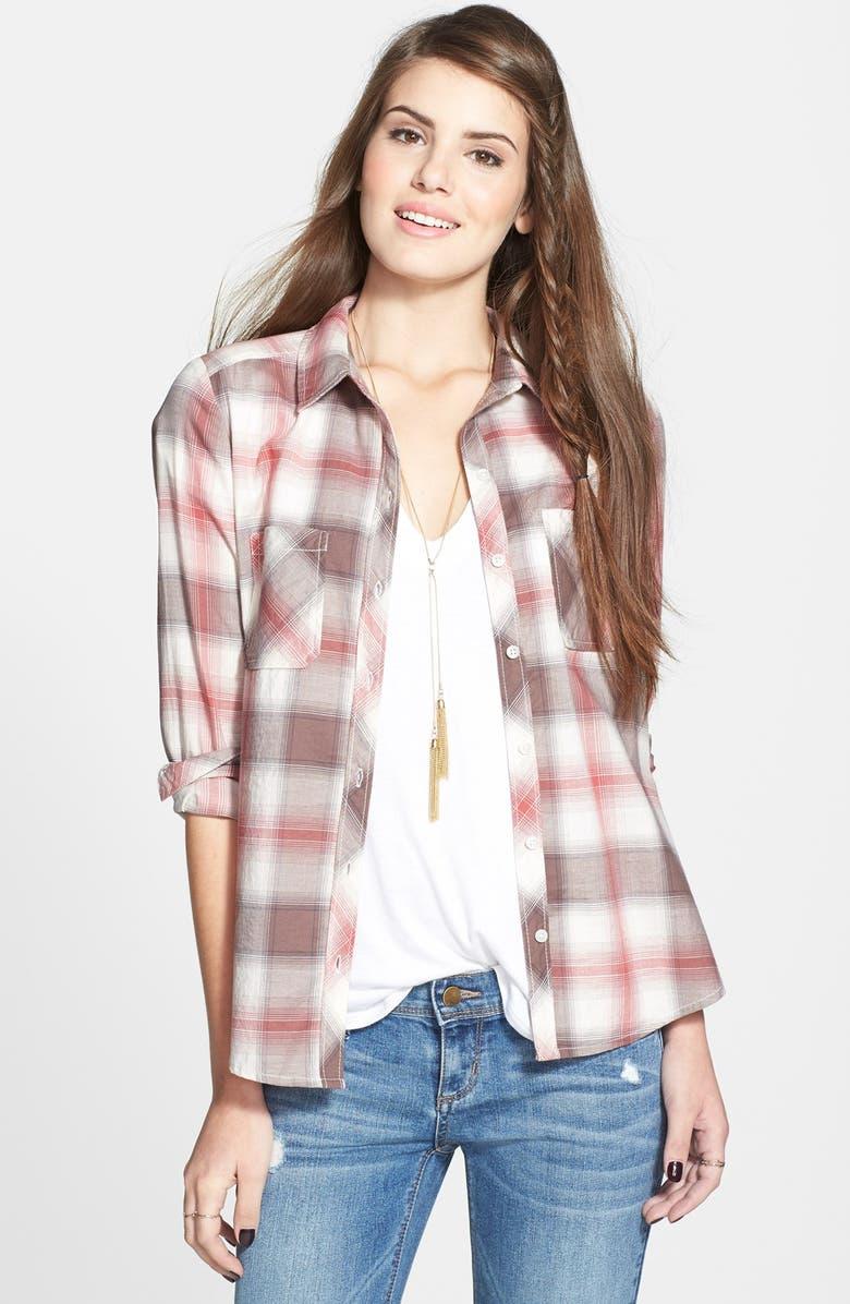 BP. Plaid Cotton Shirt, Main, color, 412