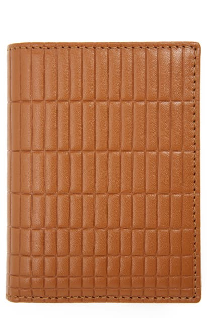 COMME DES GARÇONS BRICK EMBOSSED LEATHER CARD CASE