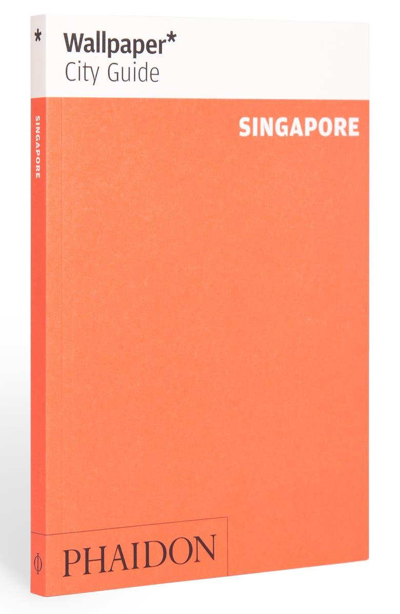 PHAIDON PRESS 'Wallpaper* City Guide Singapore' Pocket Size Travel Book, Main, color, ORANGE