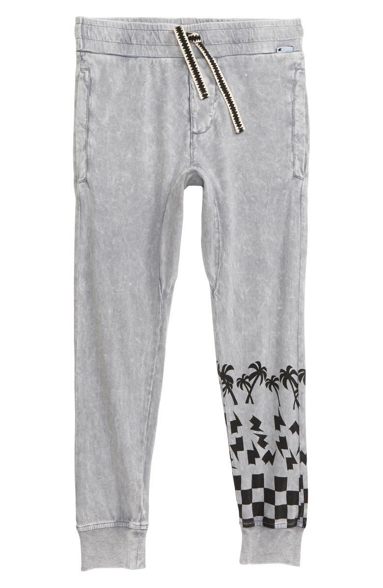 MUNSTERKIDS Checker Palm Jogger Pants, Main, color, ACID GREY